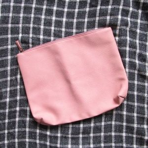NWOT Free People pink faux leather oversized bag